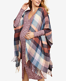 Jessica Simpson Maternity Fringed Kimono Blouse