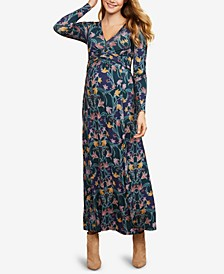 Maternity Printed Maxi Dress