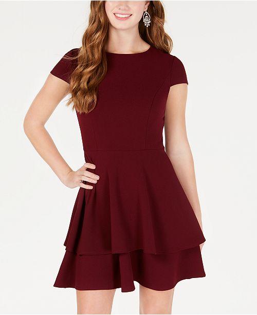 7f0e996b371 B Darlin Juniors  Ruffled Bow-Back Fit   Flare Dress   Reviews ...