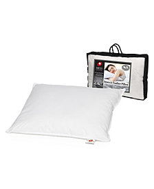 "Swiss Comforts Down & Feather Cotton Pillow, 20""X36"""