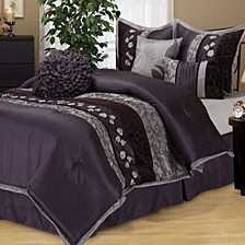 Riley 7 PC Comforter Set, Queen