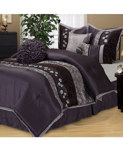 Nanshing Riley 7 PC Comforter Set, Queen