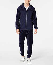 ID Ideology Men's Velour Jacket & Track Pants, Created for Macy's