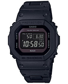 G-Shock Men's Solar Digital Black  composite link Strap Watch 42.8mm