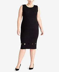 RACHEL Rachel Roy Plus Size Cutout Sweater Dress, Created for Macy's