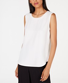 Anne Klein Scoop-Neck Shell