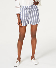 I.N.C. Soft Striped Shorts, Created for Macy's
