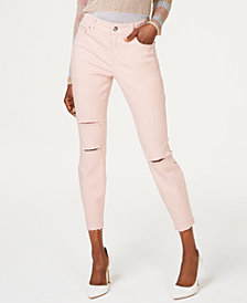 I.N.C. Colored Skinny Ankle Jeans, Created for Macy's