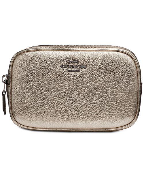 COACH Metallic Belt Bag in Pebble Leather   Reviews - Handbags ...