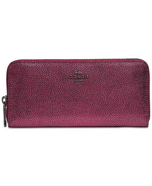 b730d192222 COACH Slim Accordion Zip Wallet in Smooth Leather. Macy's / Handbags &  Accessories