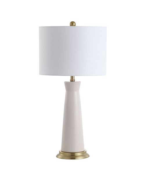 "JONATHAN Y Hartley 29"" Ceramic Column LED Table Lamp"