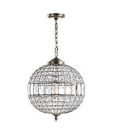 "Georgina 16"" Crystal,Metal LED Chandelier Pendant"