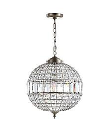 "JONATHAN Y Georgina 16"" Crystal,Metal LED Chandelier Pendant"