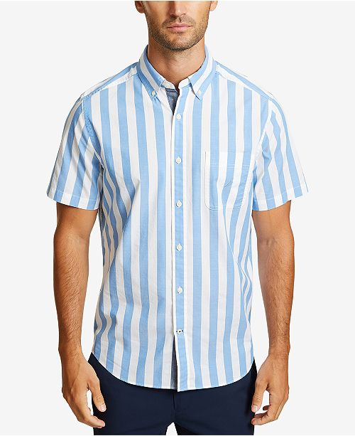 732fbe7b48 Nautica Men's Thick Striped Short Sleeve Shirt & Reviews - Casual ...