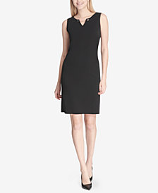 Calvin Klein Chain-Detail Sleeveless Sheath Dress