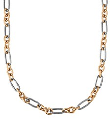 "Two-Tone Luxe Links 18"" Necklace"
