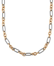 "Carolyn Pollack Two-Tone Luxe Links 18"" Necklace"