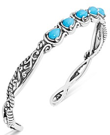 Turquoise Five-Stone Cuff in Sterling Silver