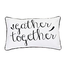 "Polyester Fill Gary Gather Together Pillow, 12"" x 20"""