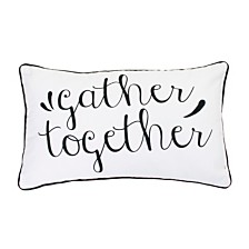 "Thro Polyester Fill Gary Gather Together Pillow, 12"" x 20"""