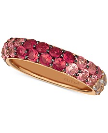 Le Vian® Strawberry Layer Cake Multi Gemstone Ombré Band (2-1/5 ct t.w.) in 14k Rose Gold