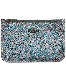 COACH Glitter Zip Card Case