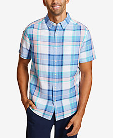Nautica Men's Riviera Plaid Linen Shirt