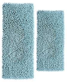 Chenille Shaggy 2 Pc Cotton Bath Rug Set