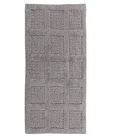 Square Honeycomb 17x24 Cotton Bath Rug