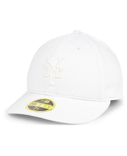 best authentic deef9 4eef9 ... New York Mets Triple White Low Profile 59FIFTY Fitted Cap ...
