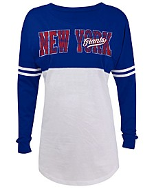 Women's New York Giants Distressed Sweeper T-Shirt