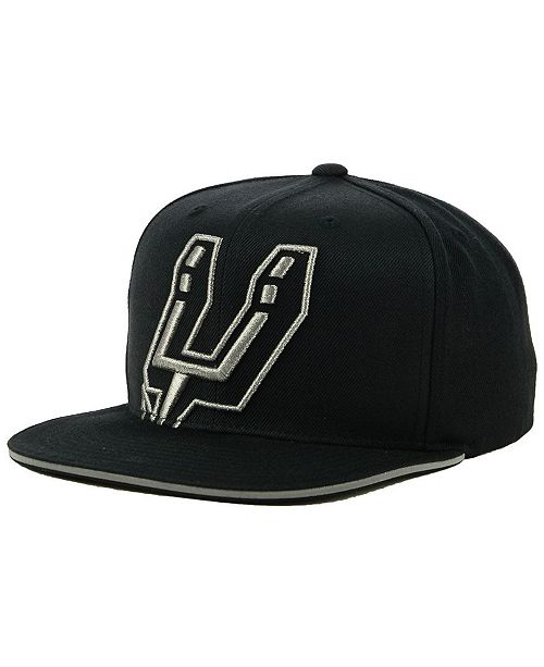 the best attitude 018b9 e55c4 Mitchell   Ness San Antonio Spurs Cropped Metallic Snapback Cap ...