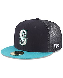 New Era Seattle Mariners On-Field Mesh Back 59FIFTY Fitted Cap