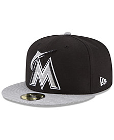 New Era Miami Marlins Black Heather 59FIFTY Fitted Cap