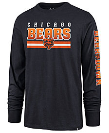 '47 Brand Men's Chicago Bears Level Up Long Sleeve Super Rival T-Shirt