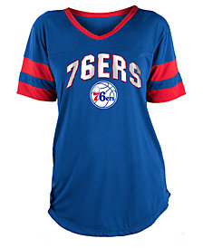 5th & Ocean Women's Philadelphia 76ers Mesh T-Shirt
