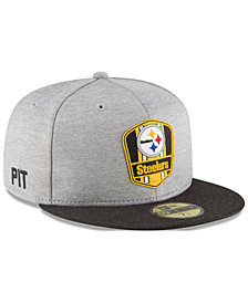 New Era Boys' Pittsburgh Steelers Sideline Road 59FIFTY FITTED Cap
