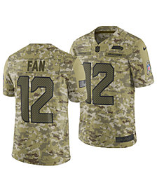 Nike Men's Fan #12 Seattle Seahawks Salute To Service Jersey 2018