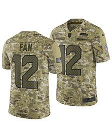 Nike Men's Fan #12 Seattle Seahawks Salute To Service Jersey 2018