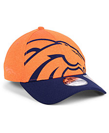 New Era Denver Broncos Oversized Laser Cut Logo 39THIRTY Cap