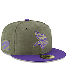 New Era Minnesota Vikings Salute To Service 59FIFTY FITTED Cap