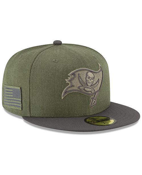 81771daf Tampa Bay Buccaneers Salute To Service 59FIFTY FITTED Cap
