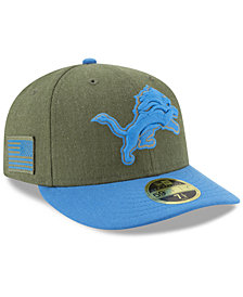 New Era Detroit Lions Salute To Service Low Profile 59FIFTY Fitted Cap 2018
