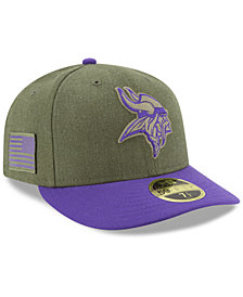 New Era Minnesota Vikings Salute To Service Low Profile 59FIFTY Fitted Cap 2018