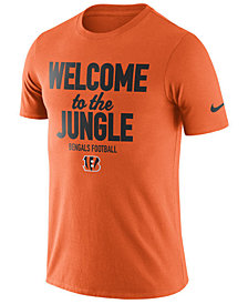 Nike Men's Cincinnati Bengals Dri-Fit Cotton Local T-Shirt