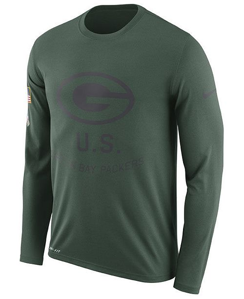 c941063b6 ... Nike Men s Green Bay Packers Salute To Service Legend Long Sleeve T- Shirt ...