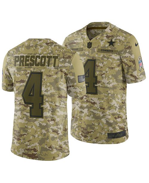 cheap for discount 99fa1 fa66e Men's Dak Prescott Dallas Cowboys Salute To Service Jersey 2018