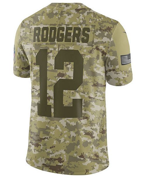 ... Nike Men s Aaron Rodgers Green Bay Packers Salute To Service Jersey ... 2cdd4a235