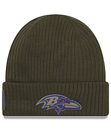 New Era Baltimore Ravens Salute To Service Cuff Knit Hat