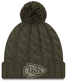 New Era Women's Kansas City Chiefs Salute To Service Pom Knit Hat